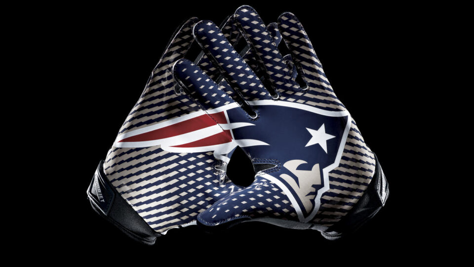 New England Patriots Football Gloves